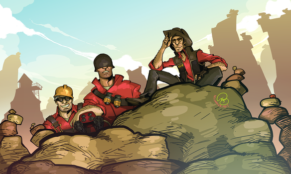 Team Fortress 2: Problem Trio by karniz
