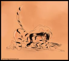 Jasmine as Tiger-sketch by FreeWingsS