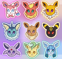 Eeveelutions by binbutt