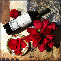 Bottle of red Wine 1 by AnnaZLove