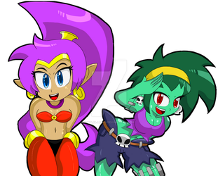 Shantae And Rottytops by Ninja-Lions