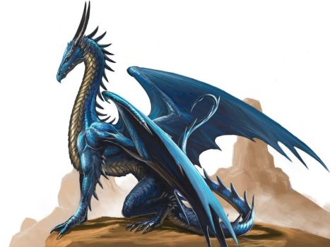 Blue Dragon by BenWootten