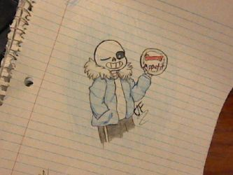 Sans drawing [Request!!] by Ruby-Night
