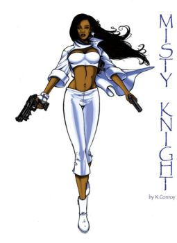Misty Knight by Solblight by Deacon57