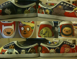 Adventure Time shoes by Kyozion