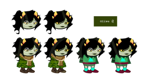 fantroll adopt | olive blood | closed by Adoptido