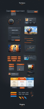 Dark Velvet UI Kit by webdesigngeek