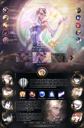 League of Legends : Lux Profile Layout by Reinachii