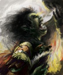 The Orc Mother by UmbrellaFighter