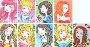 Kika as Disney girls by Blush-Art