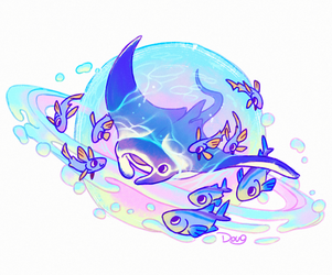 The Cosmic Manta Ray by Astral-Requin
