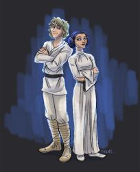 Luke and Leia by ggns