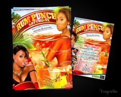 Rum Punch Saturday Flyer by innografiks