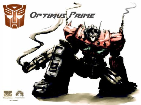 Optimus Wallpaper by ninjaink