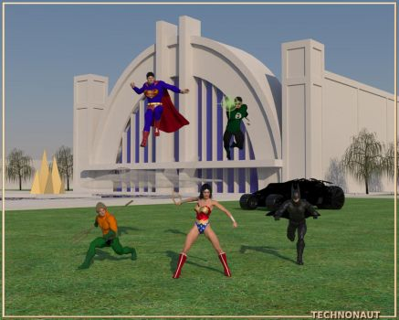 Superfriends at the Hall of Justice by technonaut