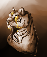 Golden Tiger Tears by amerillo342