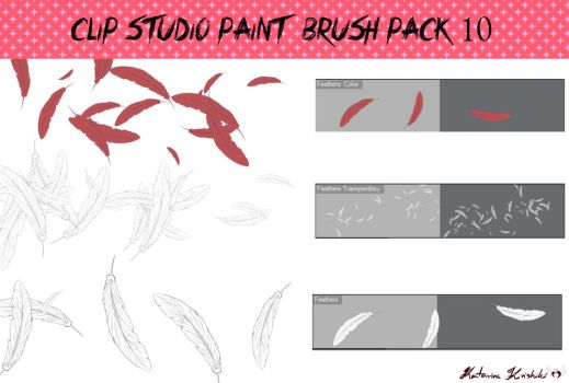 Clip Studio Paint Brush Pack 10 by Katarina-Kirishiki