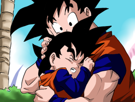 Dragon Ball: father and son by Feiuccia