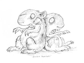 Zombie Hamsters by ursulav
