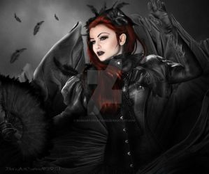 Lady Black by babsartcreations