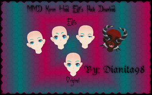MMD Koron Head Edit's Pack 1 Download by dianita98