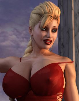 Tight Red Dress Close Up by willdial