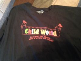 Child World logo T-shirt by dth1971