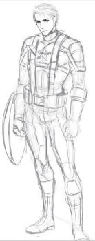 captain america first doodle of avengers lol by snowcastel