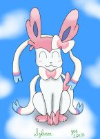 Sylveon in the Sky by YoshiGamerGirl