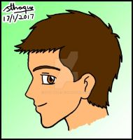 Steven Wilks age 16 face in profile by sthaque