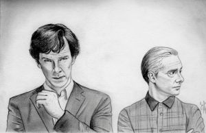 The Game is On (Sherlock Drawing) by julesrizz