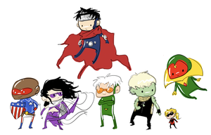 weeny young avengers by ormery