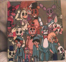 Five nights at Freddy's : Canvas art by YueJo