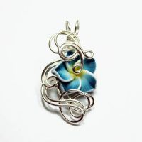 Wire Wrap Flower Pendant 8 by Create-A-Pendant