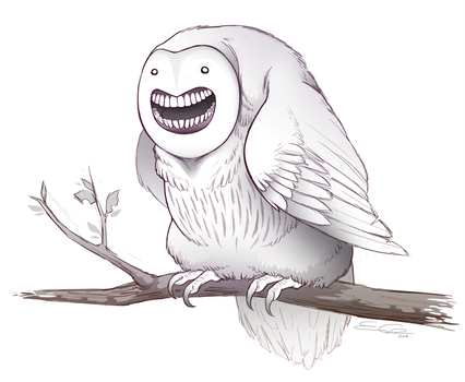 Fat Happy Owl by SilentReaper