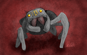 Day 28 - Emoji Spider by bookwormy606