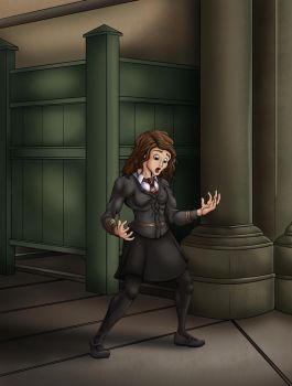 Commission: Hermione gets mad part 1 by EduartBoudewijn