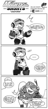 Mighty No. Shorts: 'Uniform' by Shadypenpen