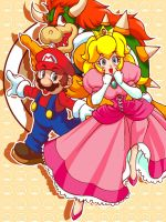Super Princess Peach Team by Shayeragal