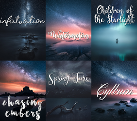Font pack 5 by crystalrayne24