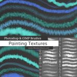 Painting Textures Photoshop Brushes by redheadstock