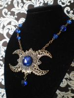 Triple Moon Necklace by Ravens-nest-witchery