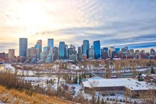 Downtown Calgary McHugh Bluff November 2 by thefantasticone21