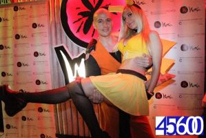 Pikachu Girl and Krillin by LuffySwan