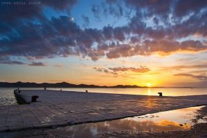 Sunset in Zadar by ivancoric