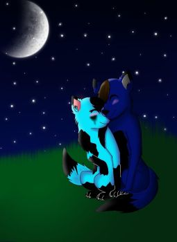 Under the moonlight by Pinkwolfly