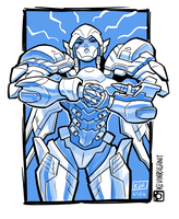 Overwatch Pharah Knuckles by KevinRaganit