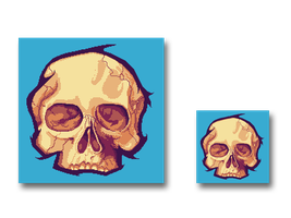 Pixel art Skull by J4RV