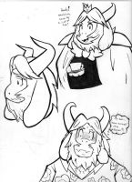 Asgore Doodles by ASmallOne