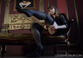 LegsEmporium Her Shapely Legs wrapped in Stockings by LegsEmporium